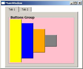how to change background header groupbox wpf